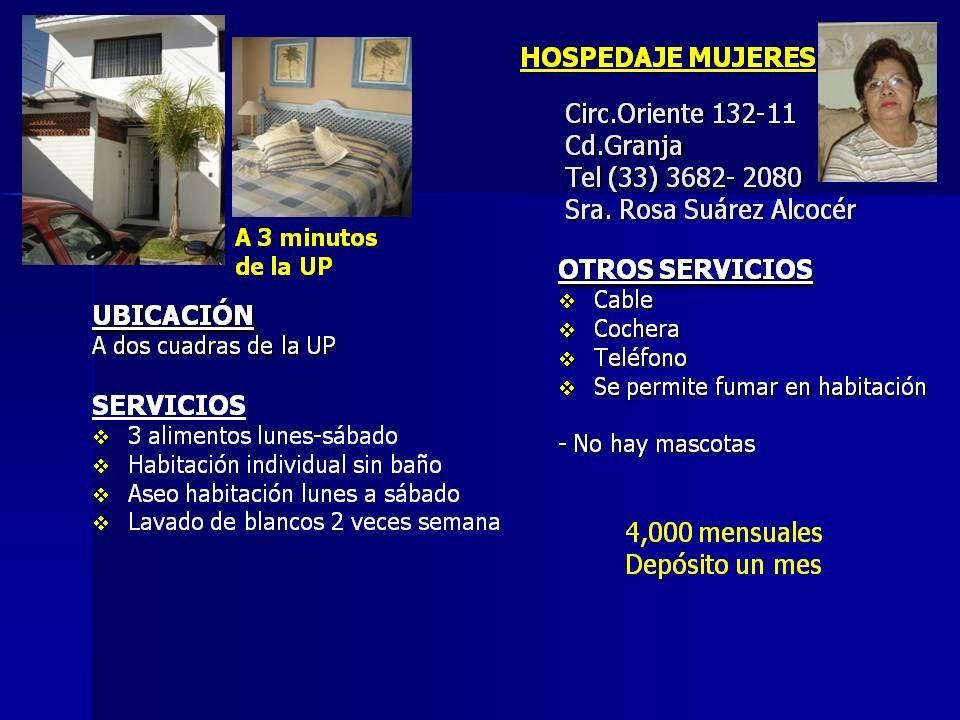 HOSPEDAJE MUJERES Alejandro no.3232 Vallarta San Jorge Tel.