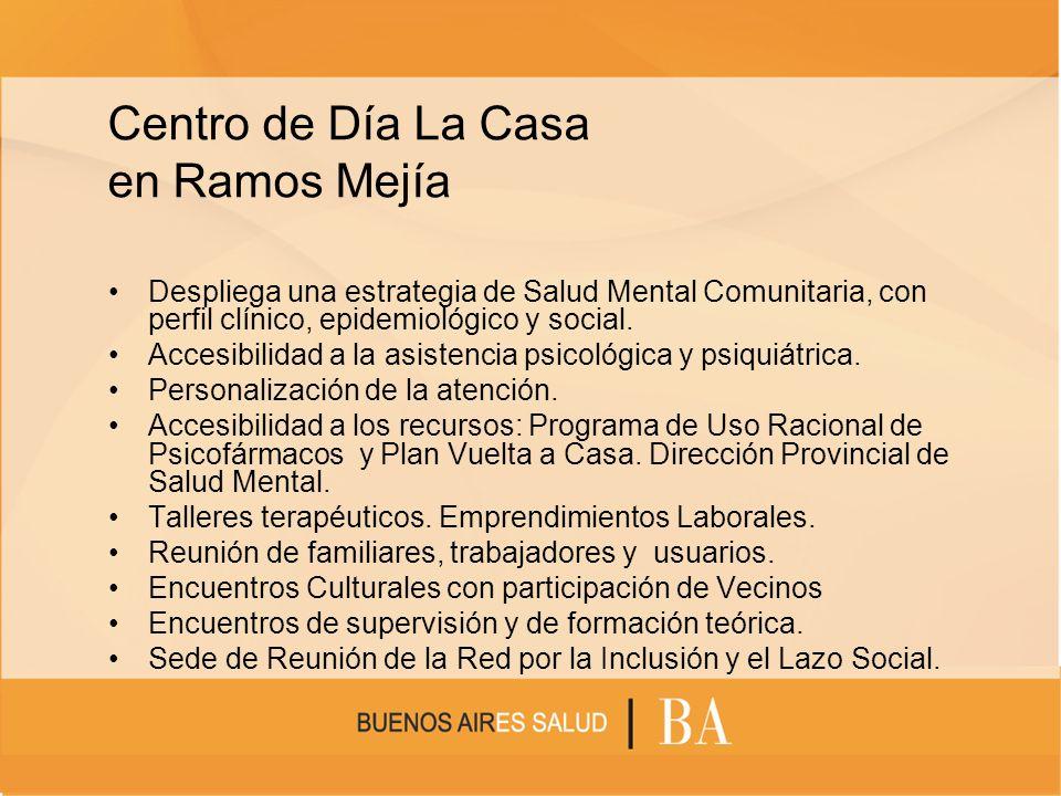 Centro de Día La Casa en Ramos Mejía Despliega una estrategia de Salud Mental Comunitaria, con perfil clínico, epidemiológico y social. Accesibilidad