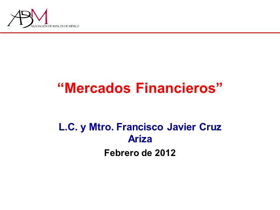 Mercados Financieros L.C. y Mtro. Francisco Javier Cruz Ariza Febrero de 2012