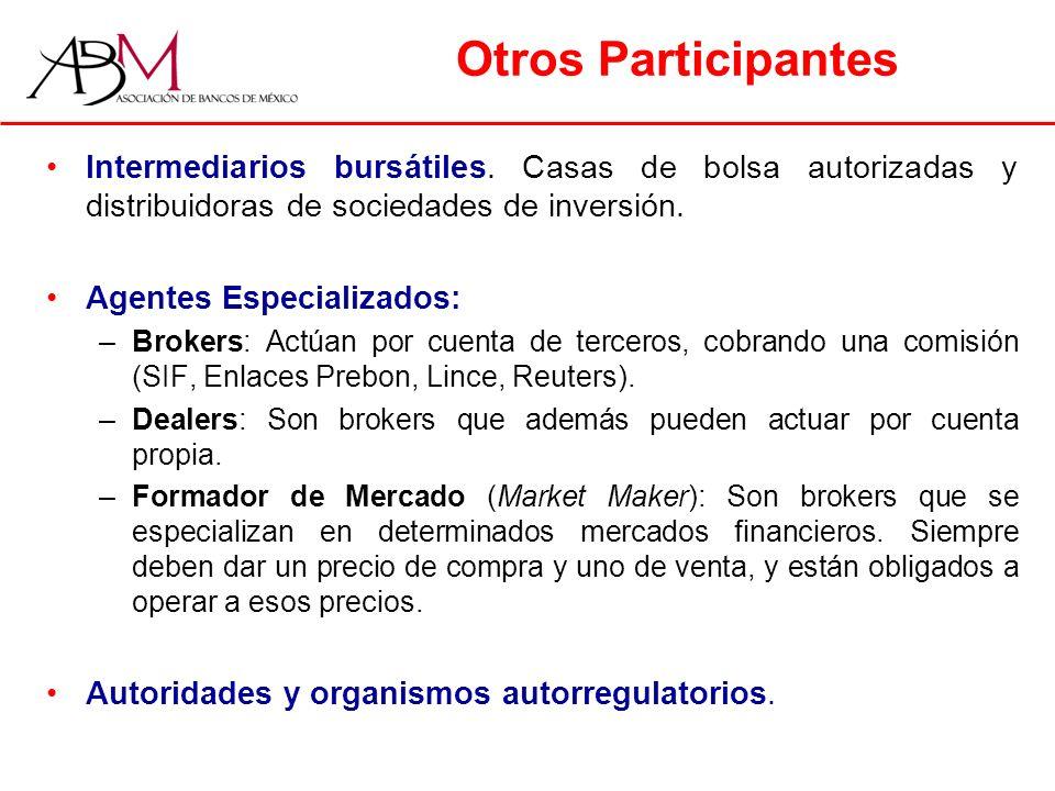 Otros Participantes Intermediarios bursátiles.