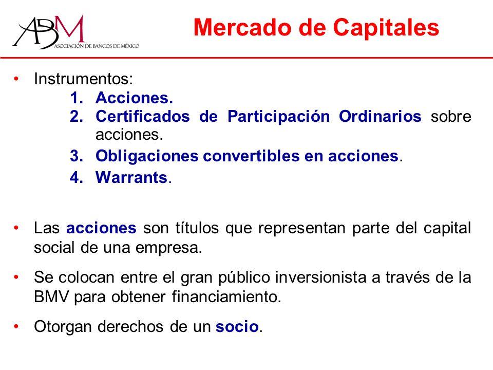 Mercado de Capitales Instrumentos: 1.Acciones.