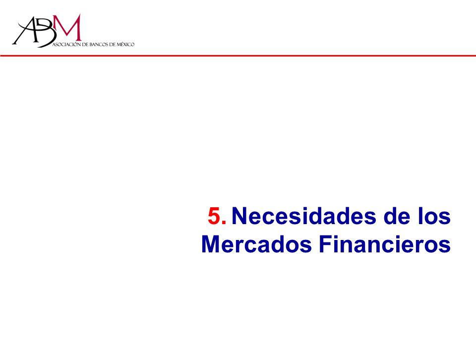 5.Necesidades de los Mercados Financieros