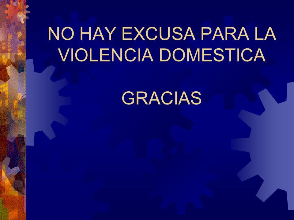 NO HAY EXCUSA PARA LA VIOLENCIA DOMESTICA GRACIAS