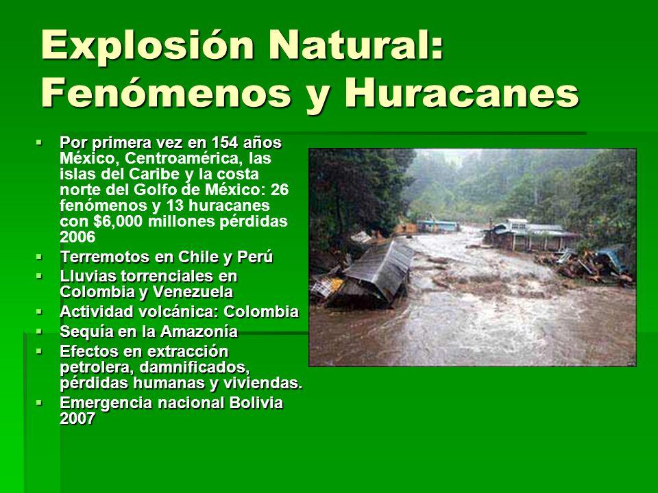 Explosión Natural: Fenómenos y Huracanes Por primera vez en 154 años Por primera vez en 154 años México, Centroamérica, las islas del Caribe y la cost