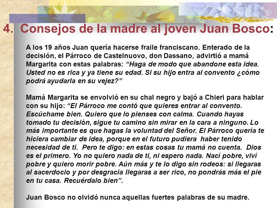 CATEQUISTA DE SUS HIJOS Pascua de 1826, es el día de la Primera Comunión de Juanito. Mamá Margarita, después de haber preparado a sus hijos a la Confe