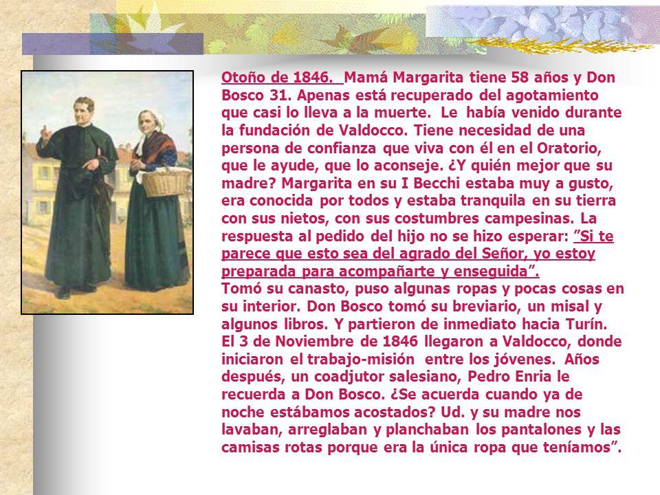 ¡El Domingo de Pascua, 12 de Abril de 1846, después de muchos trabajos para adecuar el lugar, nace VALDOCCO 5. Juan Bosco llegará a entender, viendo l