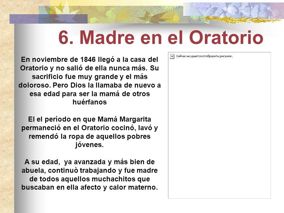 Otoño de 1846. Mamá Margarita tiene 58 años y Don Bosco 31. Apenas está recuperado del agotamiento que casi lo lleva a la muerte. Le había venido dura
