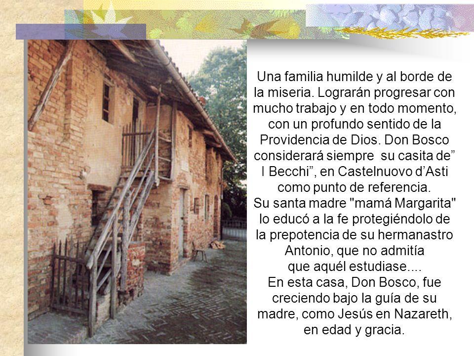 Una familia humilde y al borde de la miseria.