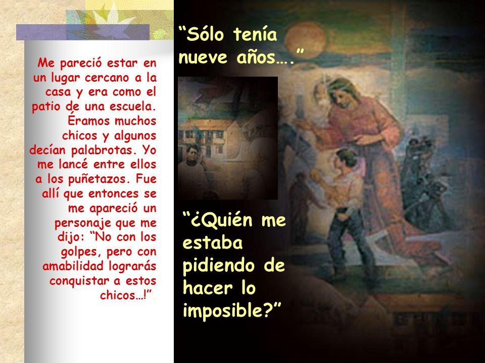 4.Consejos de la madre al joven Juan Bosco: A los 19 años Juan quería hacerse fraile franciscano.