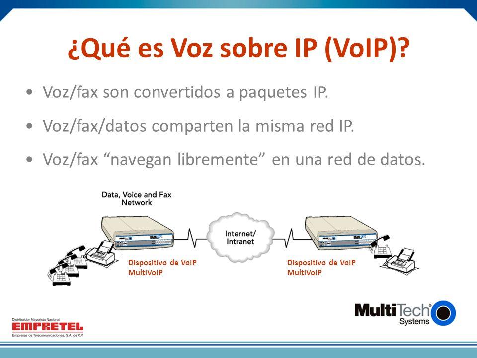 ¿Qué es Voz sobre IP (VoIP).Voz/fax son convertidos a paquetes IP.