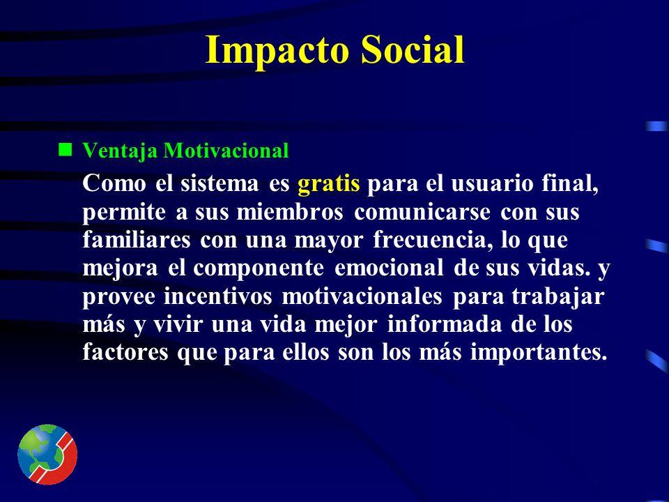 Impacto Social Ventaja Económica Nuestra investigación muestra que el núcleo familiar latino gasta un promedio de $160.0 mensuales en llamadas interna