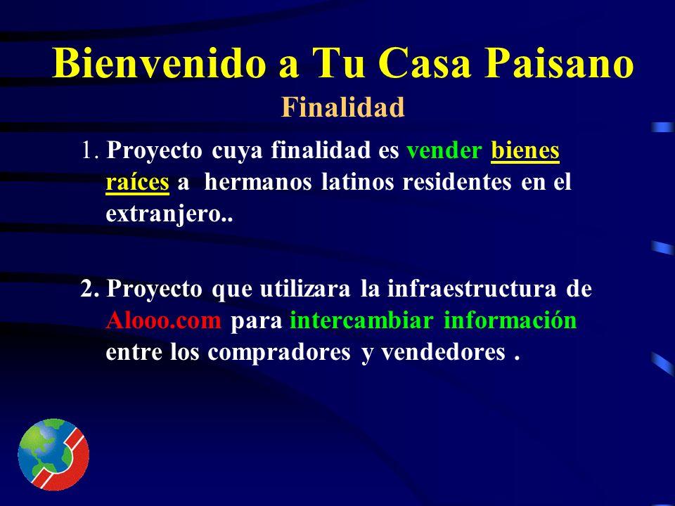Proyecto : Bienvenido a Tu Casa Paisano