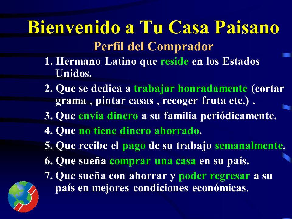 Bienvenido a Tu Casa Paisano Finalidad 1. Proyecto cuya finalidad es vender bienes raíces a hermanos latinos residentes en el extranjero.. 2. Proyecto