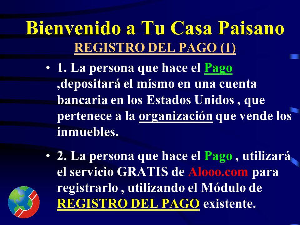 Bienvenido a Tu Casa Paisano Financiamiento (2) Venta del inmueble con casa en etapas así: 1.Pago de Gastos Legales de una Promesa de Venta (aprox. $8