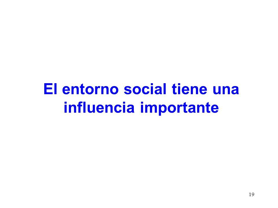 19 El entorno social tiene una influencia importante