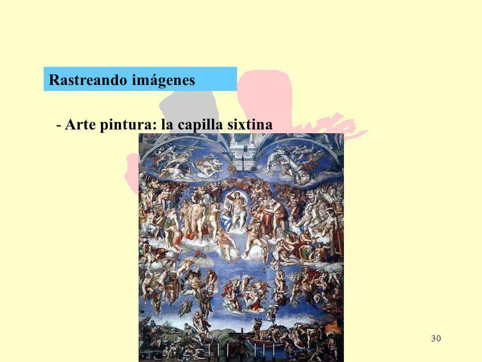 30 - Arte pintura: la capilla sixtina Rastreando imágenes