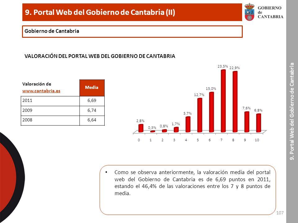 107 9. Portal Web del Gobierno de Cantabria (II) 9.