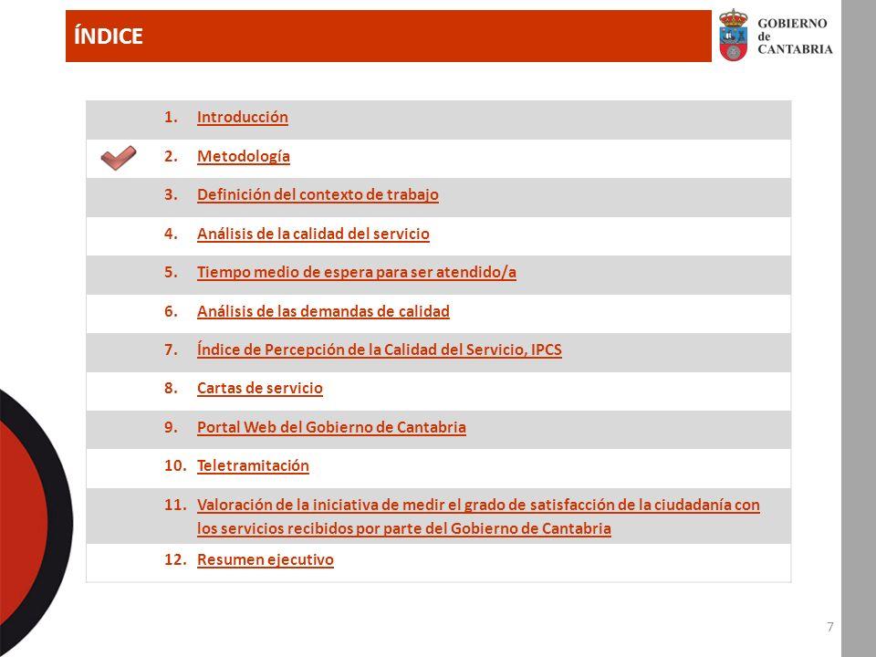 98 7.Índice de Percepción de la Calidad del Servicio, IPCS (II) 7.