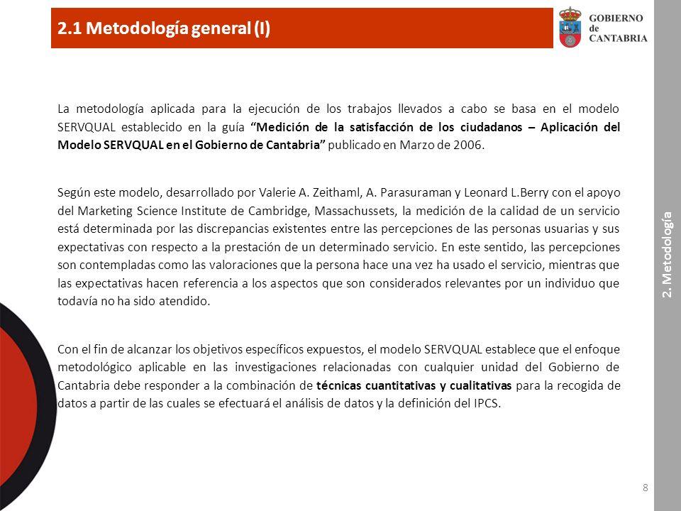 19 3.2 Análisis por el perfil de la persona usuaria (III) Gobierno de Cantabria Muestra : percepción + expectativa (1.400 encuestas) 3.