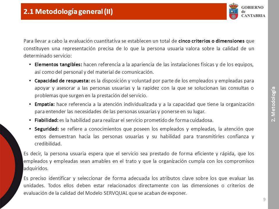9 2.1 Metodología general (II) 2.