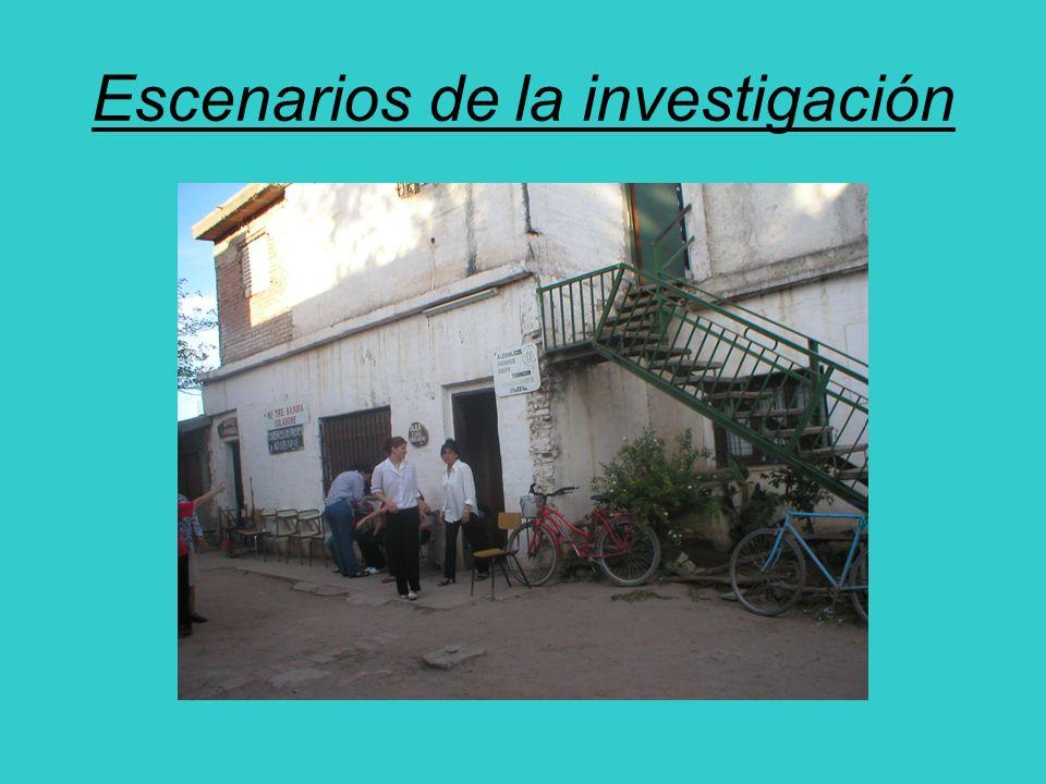 Escenarios de la investigación