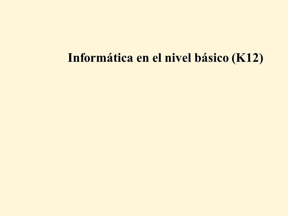 Informática en el nivel básico (K12)