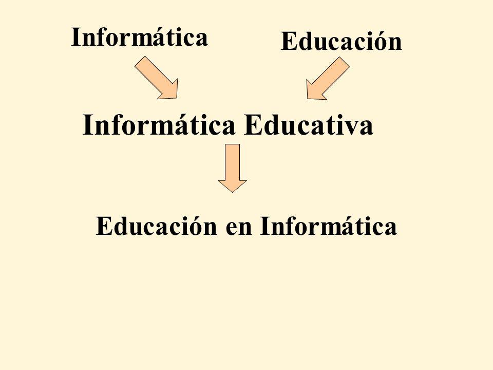 Educación en Informática Informática Educativa Informática Educación
