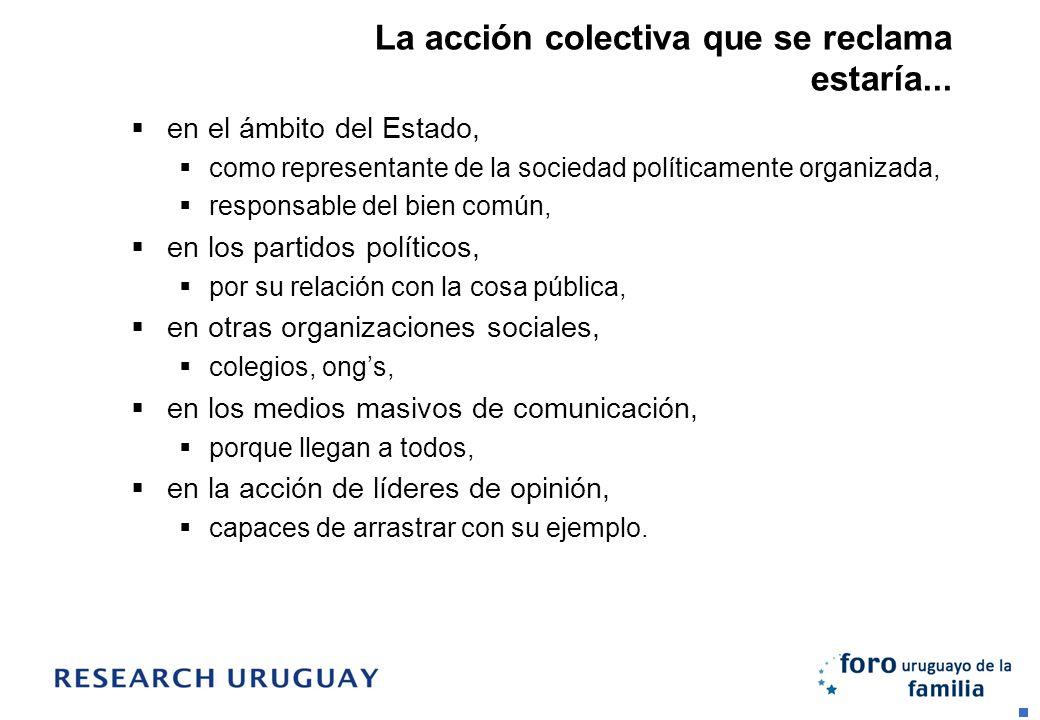 La acción colectiva que se reclama estaría... en el ámbito del Estado, como representante de la sociedad políticamente organizada, responsable del bie