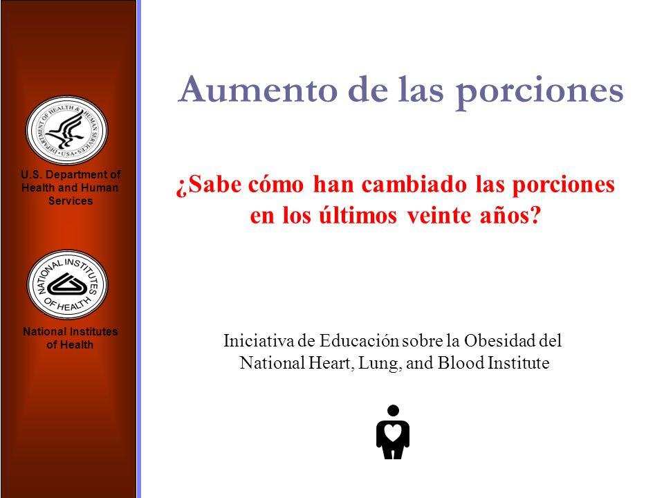 ¿Sabe cómo han cambiado las porciones en los últimos veinte años? Iniciativa de Educación sobre la Obesidad del National Heart, Lung, and Blood Instit