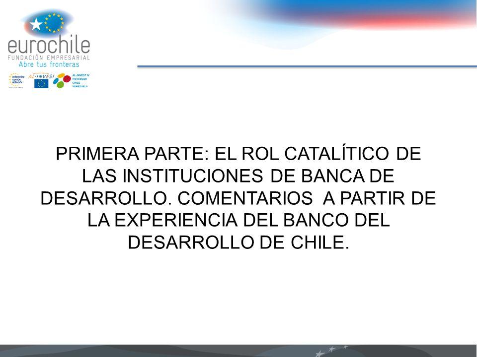 PRIMERA PARTE: EL ROL CATALÍTICO DE LAS INSTITUCIONES DE BANCA DE DESARROLLO. COMENTARIOS A PARTIR DE LA EXPERIENCIA DEL BANCO DEL DESARROLLO DE CHILE