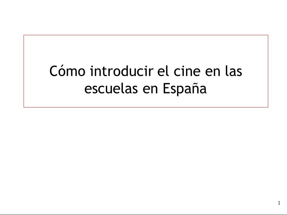 Cómo introducir el cine en las escuelas en España 1