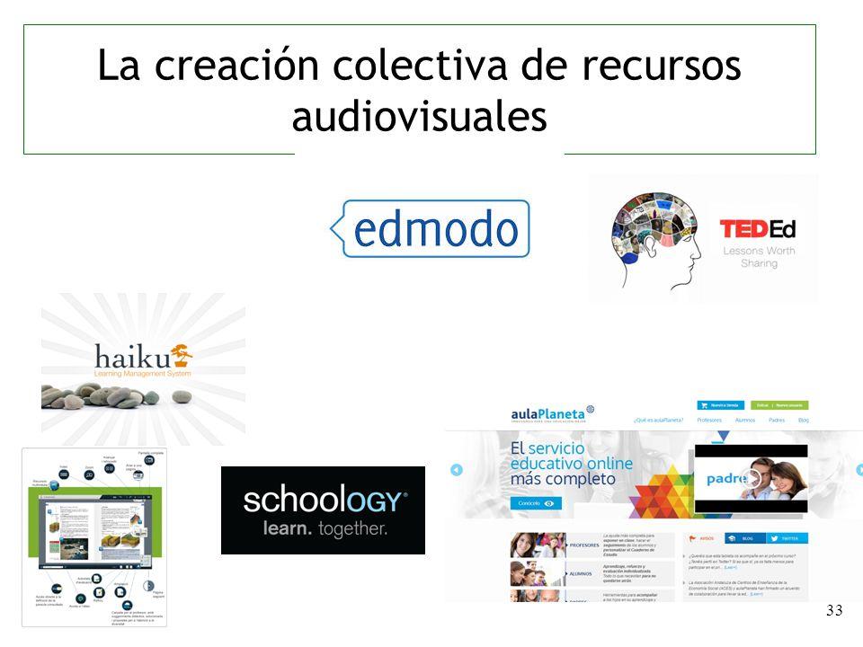 33 La creación colectiva de recursos audiovisuales
