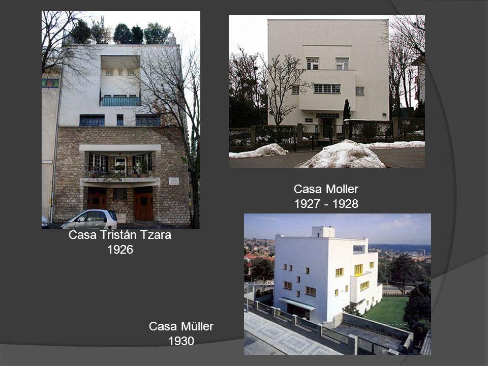 Casa Tristán Tzara 1926 Casa Moller 1927 - 1928 Casa Müller 1930