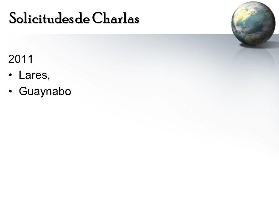 Solicitudes de Charlas 2011 Lares, Guaynabo