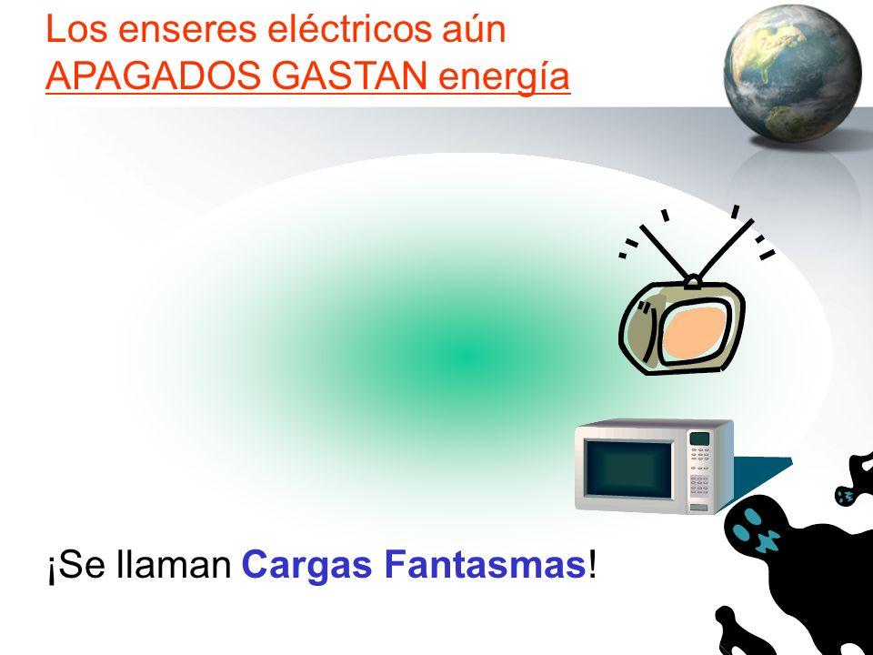 Los enseres eléctricos aún APAGADOS GASTAN energía ¡Se llaman Cargas Fantasmas!