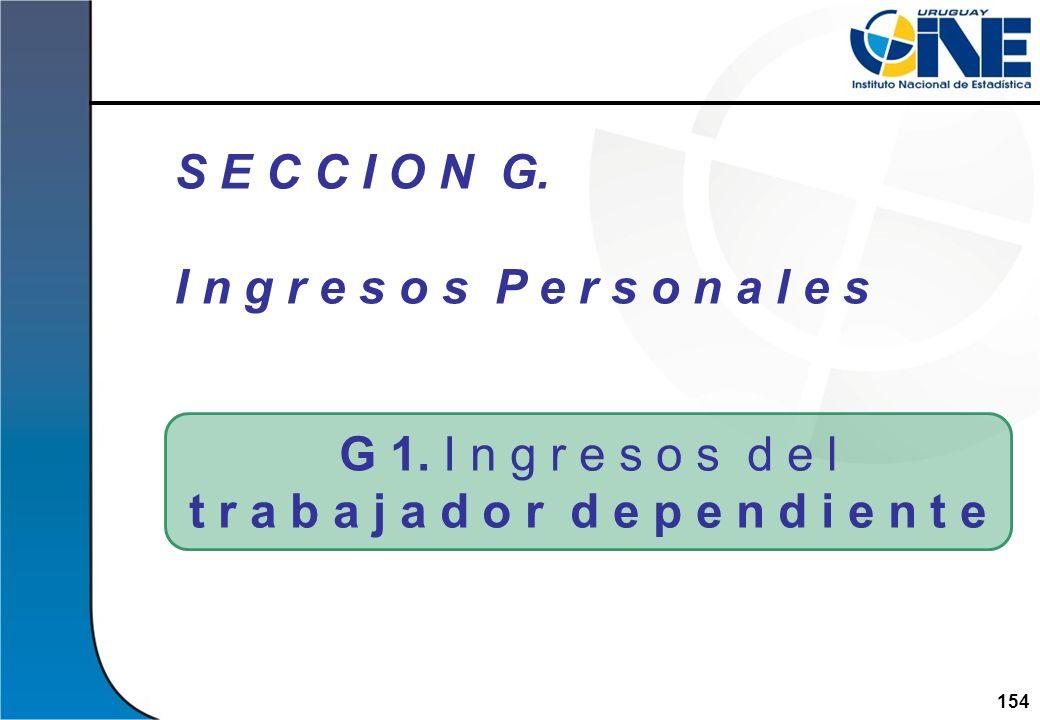 154Instituto Nacional de Estadística G 1. I n g r e s o s d e l t r a b a j a d o r d e p e n d i e n t e S E C C I O N G. I n g r e s o s P e r s o n