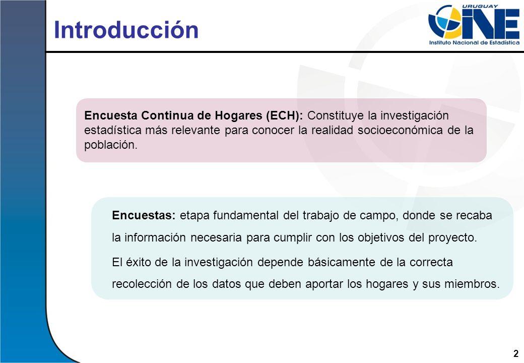 2 Introducción Encuestas: etapa fundamental del trabajo de campo, donde se recaba la información necesaria para cumplir con los objetivos del proyecto