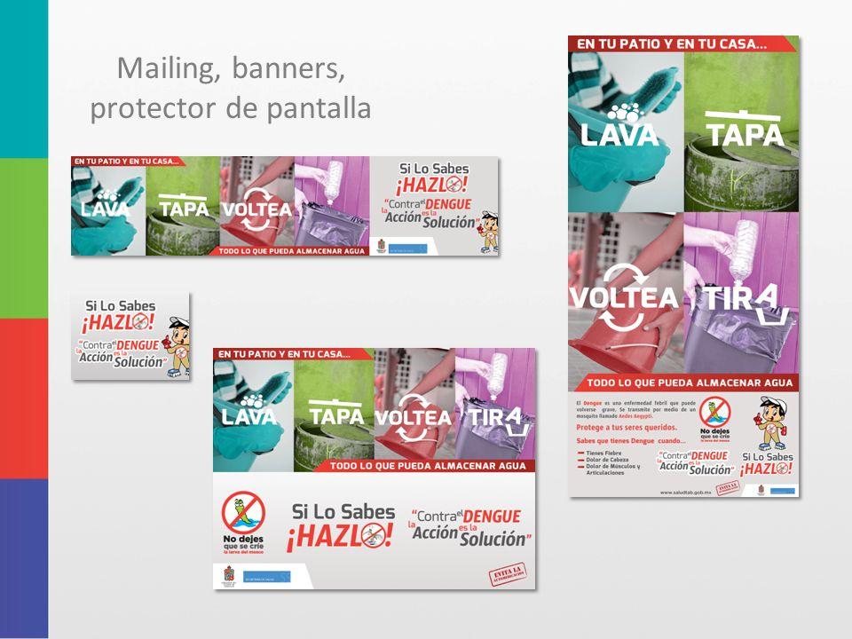 Mailing, banners, protector de pantalla