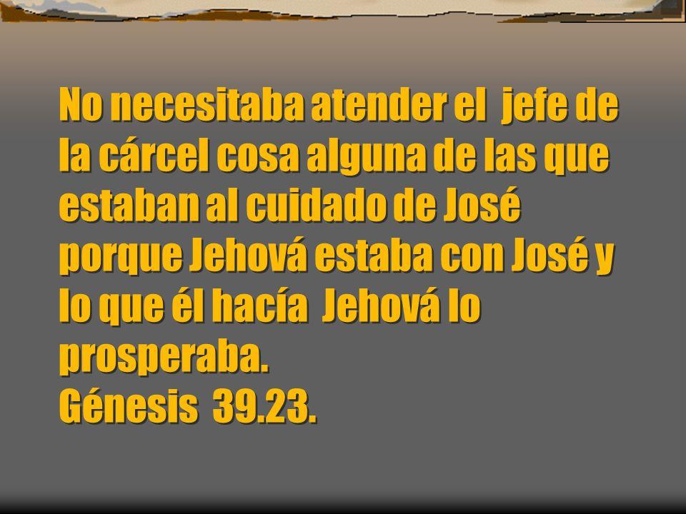 Y tomó su amo a José y lo puso en la cárcel donde estaban los presos del rey. Génesis 39.20