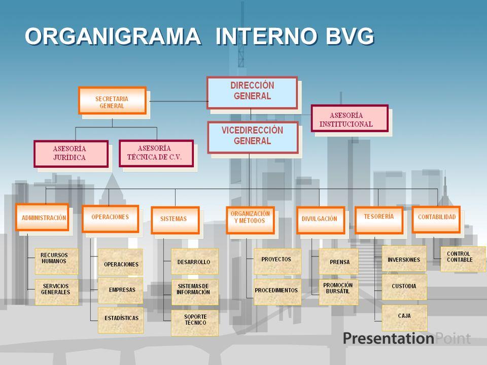 ORGANIGRAMA INTERNO BVG