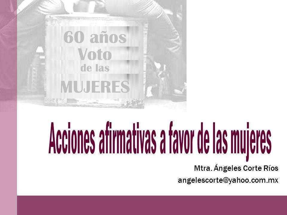 Voto 60 años de las MUJERES Mtra. Ángeles Corte Ríos angelescorte@yahoo.com.mx