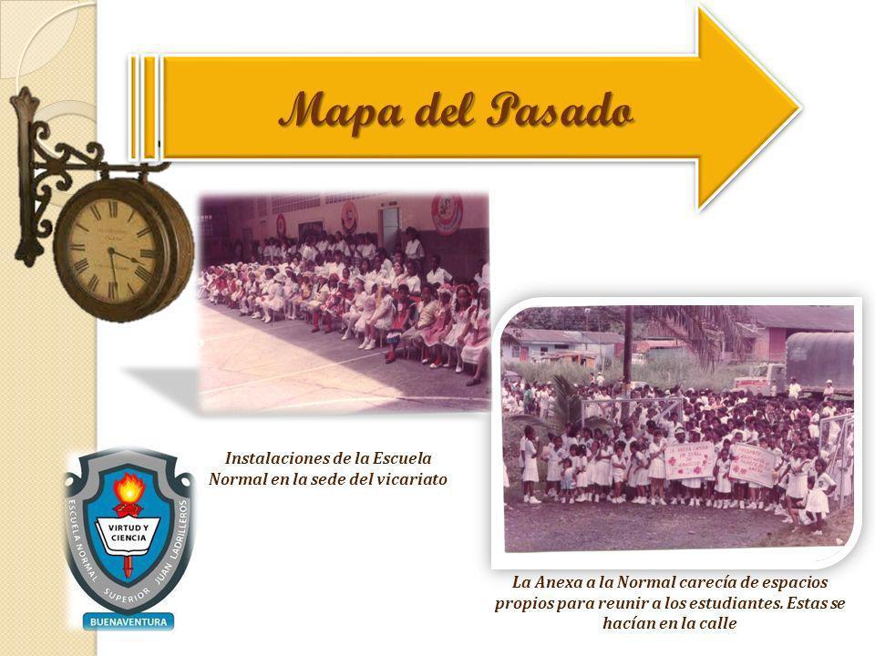 Instalaciones de la Escuela Normal en la sede del vicariato La Anexa a la Normal carecía de espacios propios para reunir a los estudiantes. Estas se h