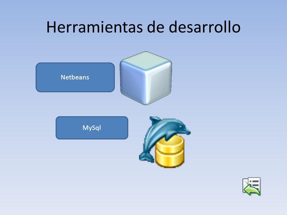 Herramientas de desarrollo Netbeans MySql