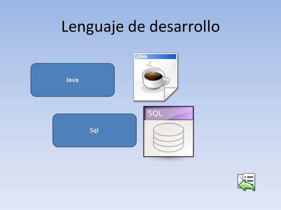 Lenguaje de desarrollo Java Sql