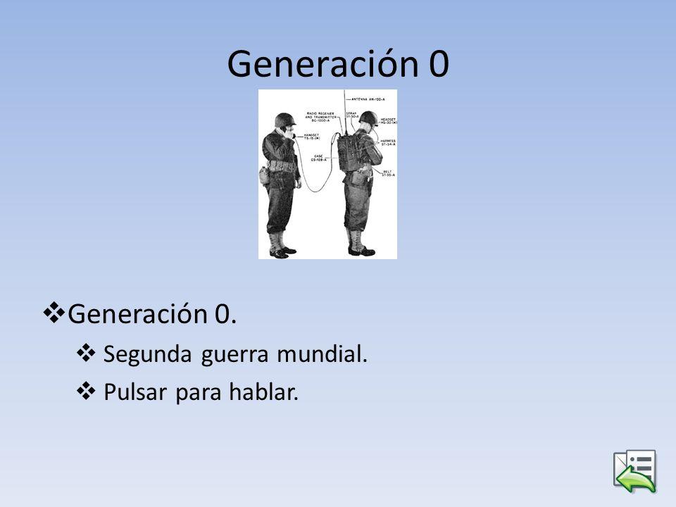 Generación 0 Generación 0. Segunda guerra mundial. Pulsar para hablar.