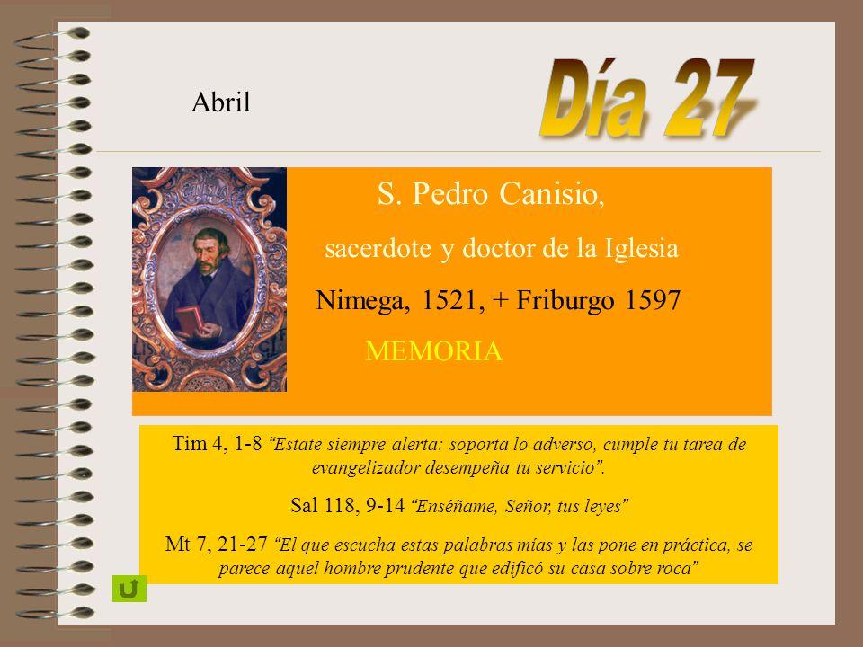 SANTA MARÍA VIRGEN MADRE DE LA COMPAÑÍA DE JESÚS Abril FIESTA Judit, 15, 8-12.14: 16, 2-3 Tú eres la exaltación de Jerusalén, tú el gran orgullo de Is