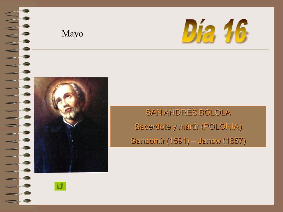 SAN JOSÉ MARÍA RUBIO Almería (1864) - Aranjuez (1929) Mayo
