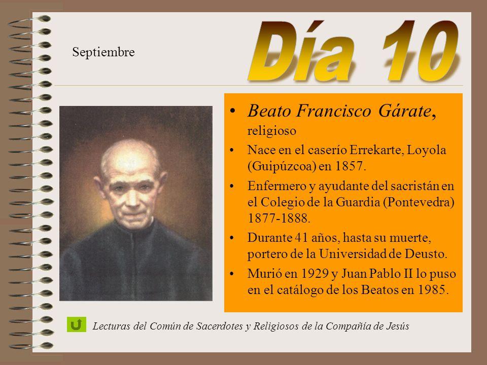 San Pedro Claver, sacerdote - Nace en Verdú, España, en 1580 - Ingresó en la Compañía en 1602. - Ordenado sacerdote en Colombia en 1616, dedicó su vid