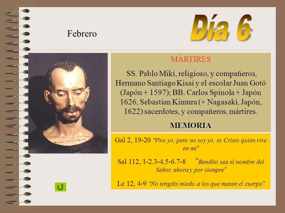 MÁRTIRES S. Juan de Brito, sacerdote (+ Maduré 1693) ; B. Rodolfo Acquaviva, sacerdote, y compañeros, mártires (India, 1583) Febrero