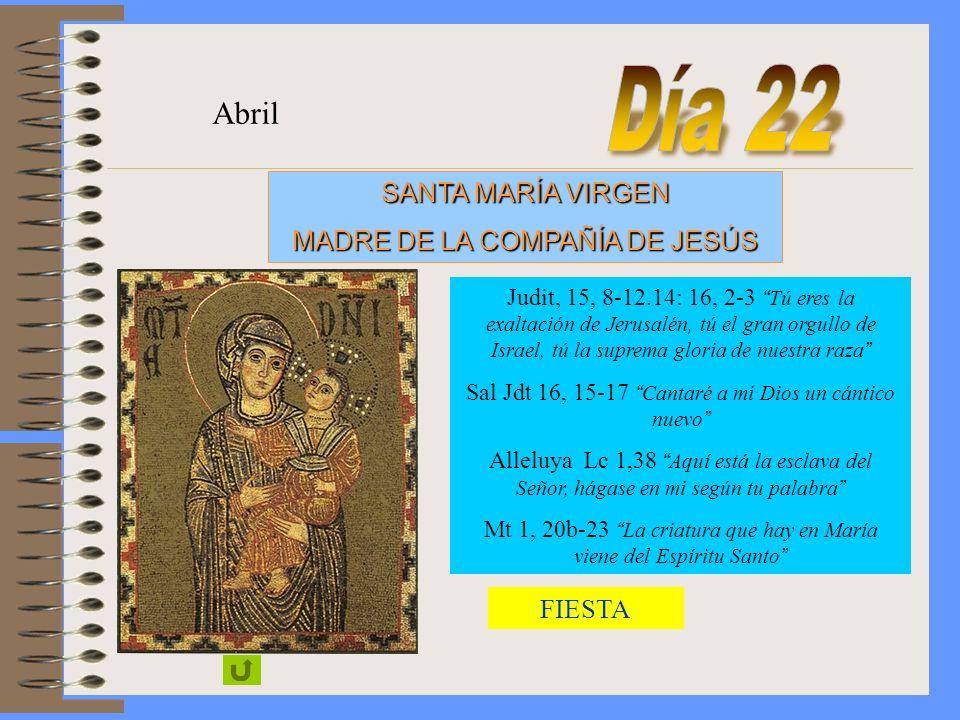 S. JOSÉ, ESPOSO DE LA VIRGEN MARÍA, Patrono de la Compañía de JesúsSOLEMNIDAD Marzo
